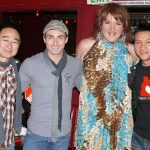Bryan Batt of Mad Men, Gedde Watanabe and Scott Nevins