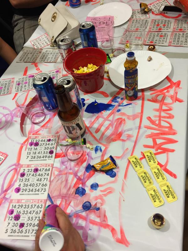messy bingo table